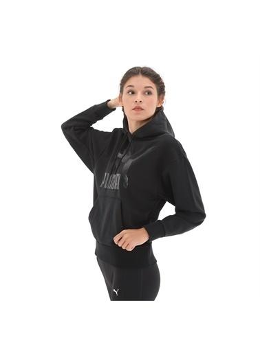Puma Kadın Siyah Classics Logo Hoody Sweatshirt 59763851 Siyah